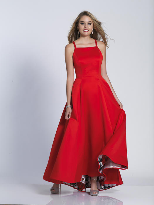 Dave and Johnny - Satin Gown with Printed Lining
