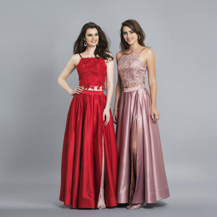 Dave and Johnny - Two Piece Lace and Satin Gown