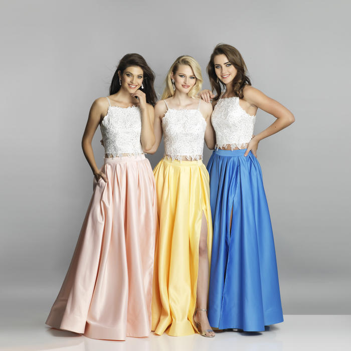 Dave and Johnny - Embellished Beaded Bodice with Satin Skirt