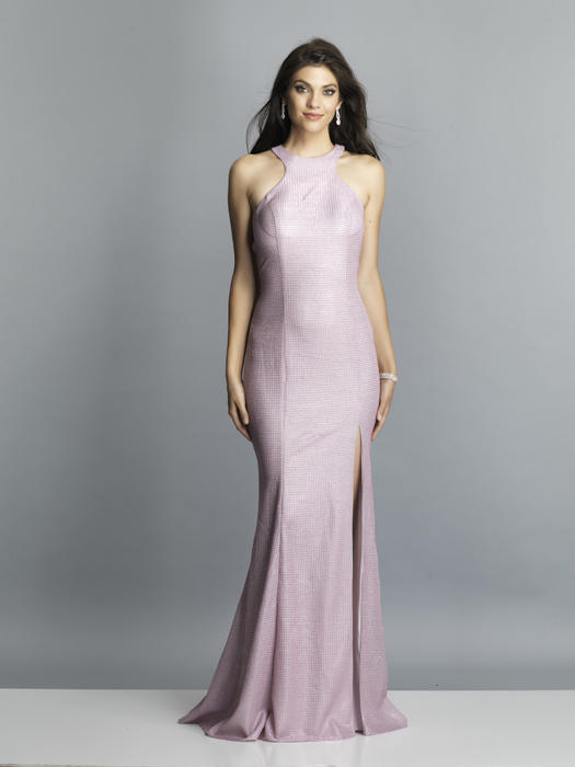 Dave and Johnny - Jersey Metallic Gown Criss Cross Back