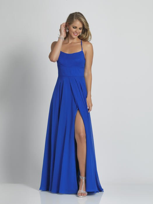 Dave and Johnny - Jersey Flyaway Spaghetti Strap Gown