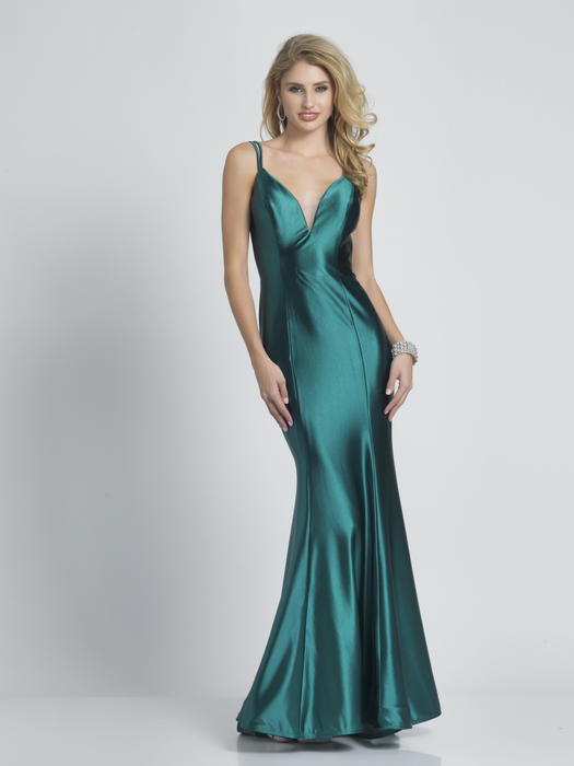 Dave and Johnny - Satin Sheer Back Gown