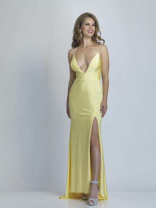 Dave and Johnny - Satin Spaghetti Strap Gown