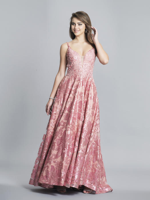 Dave and Johnny - Tulle Sequin Gown