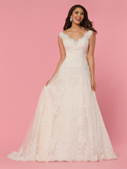 Da Vinci Bridal - V-Neck Lace Bridal Gown