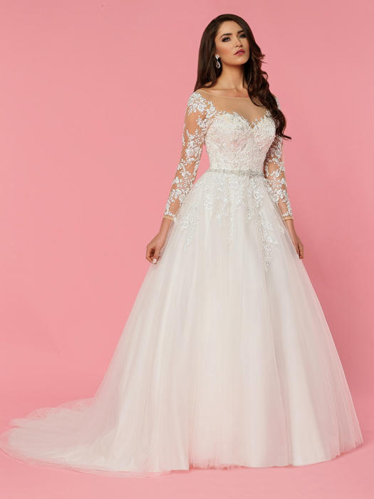 Da Vinci Bridal - Tulle & Lace Embroidered Illusion Gown