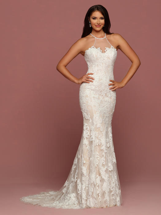 Da Vinci Bridal - TULLE & LACE HALTER TOP BRIDAL GOWN
