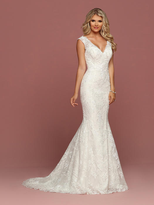 Da Vinci Bridal - TULLE & EMBROIDERED LACE ILLUSION GOWN