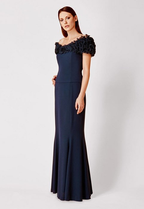 Daymor Couture - Off-the-Shoulder Fit & Flare Gown