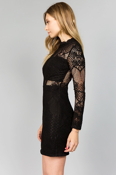 Minuet Black Lace Dress