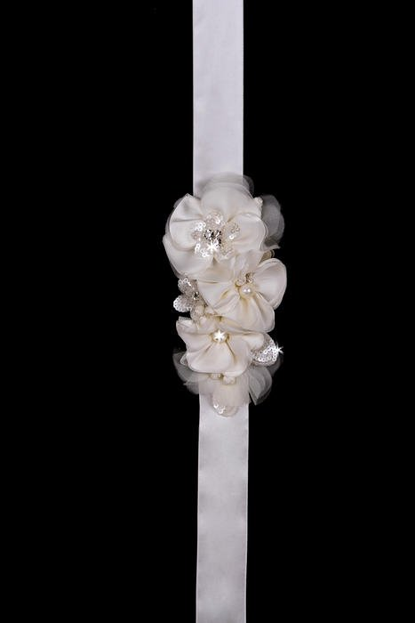 Satin Ribbon Flower Wedding Belt