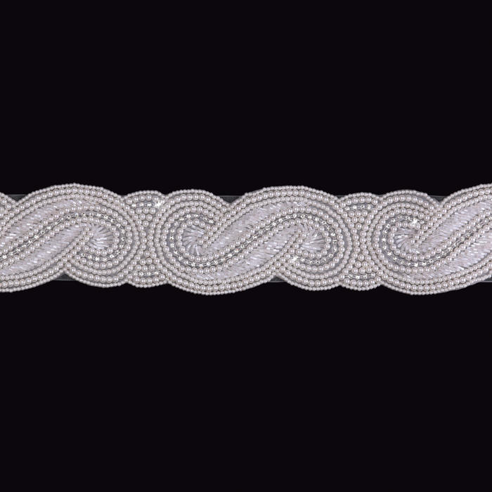 Pearl Organza Ribbon Wedding Belt
