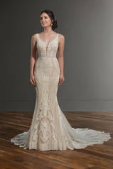 1066 Ivory Silver Lace/Ivory Tulle/Honey Gown/Ivory Tul front