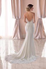 6767 Ivory Gown/Porcelain Tulle Illusion back
