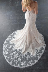 6769 Ivory Lace/Tulle/Moscato Gown/Java Tulle Illusion back