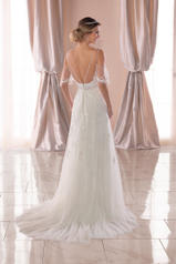 6775 Ivory Lace/Tulle/Ivory Matte-side Lustre Satin back