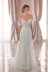 6775 Ivory Lace/Tulle/Sable Matte-side Lustre Satin front