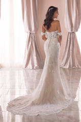 6801 Ivory Lace/Tulle/Almond Gown back