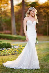 6814 Ivory Lace/Tulle/Ivory Gown/Ivory Tulle Illusion back