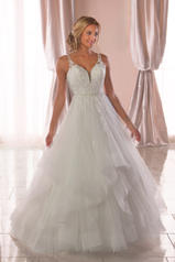 6838 Tulle/Regency Organza/Ivory Gown/Ivory Tulle Illus front