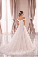 6901 Ivory Tulle And Regency Organza Over Moscato Gown back