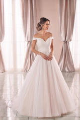 6901 Ivory Tulle And Regency Organza Over Ivory Gown front