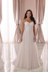 6909 Ivory Lace And French Tulle Over Ivory Gown front