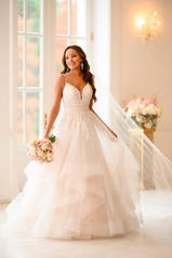 6918 Ivory Lace And Tulle Over Ivory Gown With Ivory Tu front