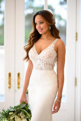 6928 Ivory Silver Lace On Ivory Soft Crepe With Ivory T detail