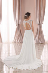6932 White Lace With Sheer Moscato Bodice And White Gow back