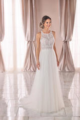 6971 White Lace With Sheer Moscato Bodice And White Gow front