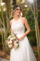 6971 Ivory Lace With Sheer Ivory Bodice And Ivory Gown detail