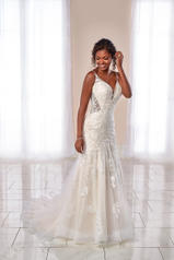 7041 Ivory Lace and Tulle over Moscato Gown with Ivory  front