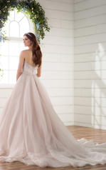 D2272 Ivory Lace on Moscato Gown back