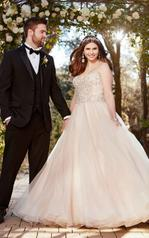 D2272 Ivory Lace on Moscato Gown front