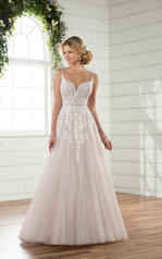 D2363 Ivory and Moscato Tulle over Moscato Gown with Ivo front
