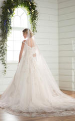 D2379 Ivory Silver Lace over Antique Ivory Gown with Por back