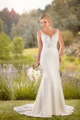 D2679 Ivory Gown/Ivory Tulle Illusion front