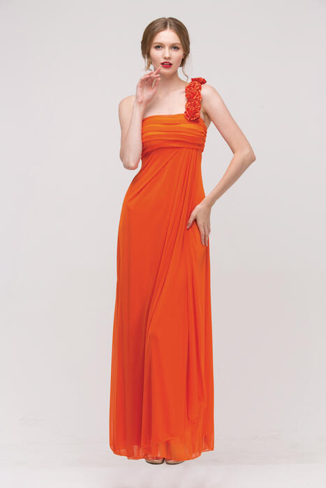Fashion Eureka - Long Chiffon One-Shoulder