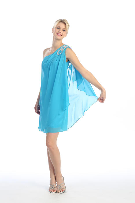 Fashion Eureka - One-Shoulder Chiffon Flyaway
