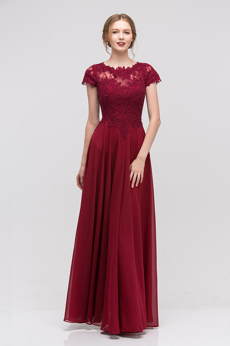 Fashion Eureka - Embellished Lace & Chiffon Gown