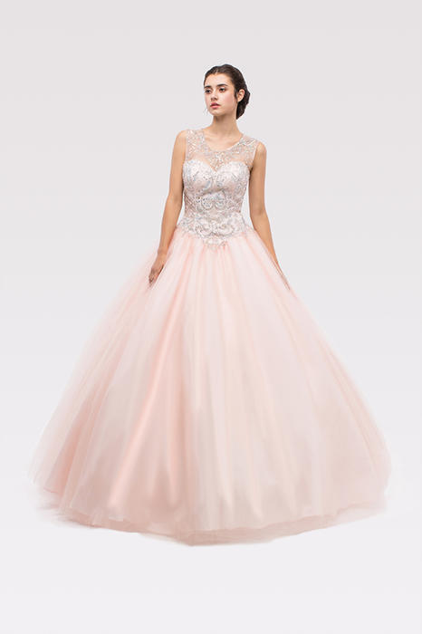 Fashion Eureka - Sleeveless Beaded Tulle Ball Gown