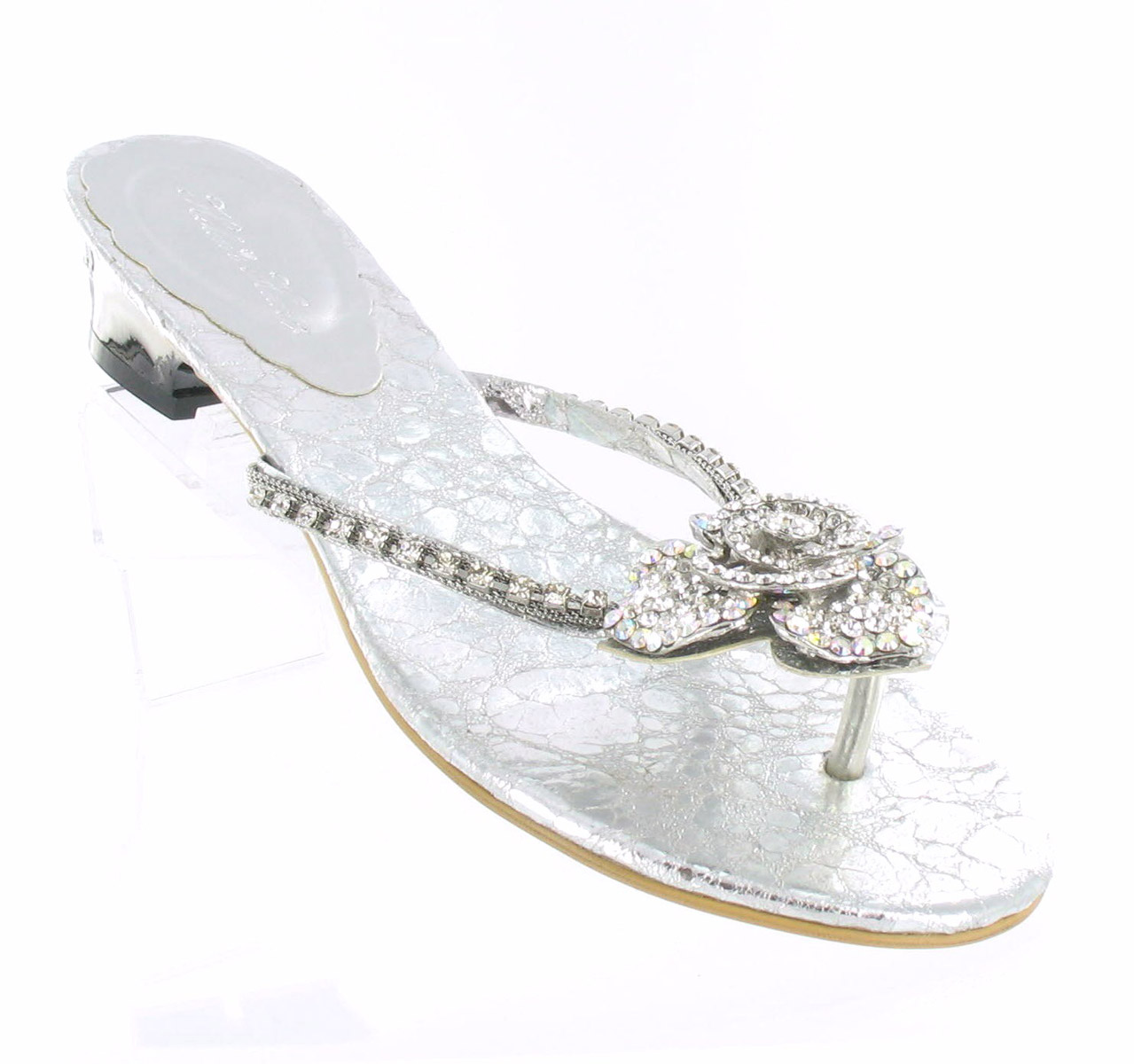 Helen's Heart Formal Shoes FS-3238-3_Silver_Clear