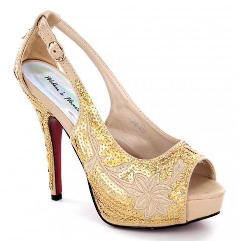 Helen's Heart Formal Shoes FS-8380-A22-Gold