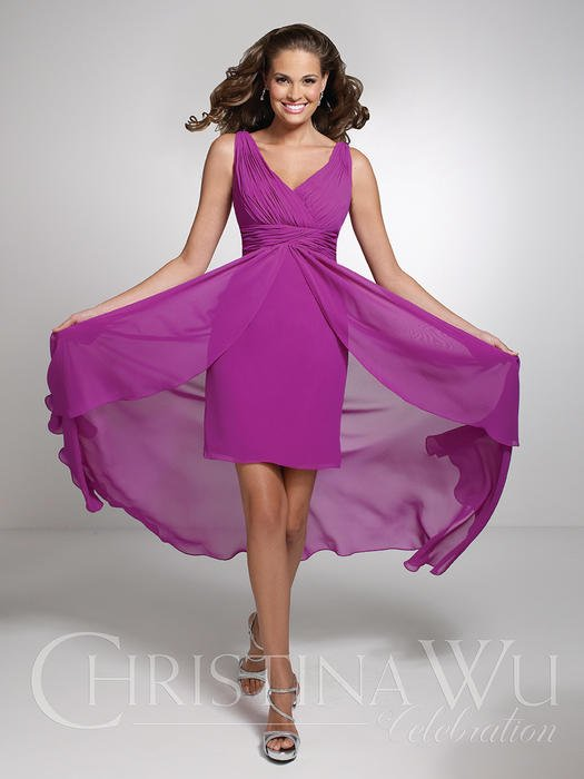 House of Wu - Ruched Chiffon Flyaway