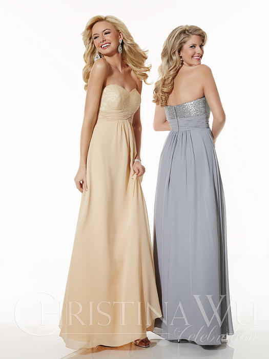 House of Wu - Strapless Sweetheart Bridesmaid Gown