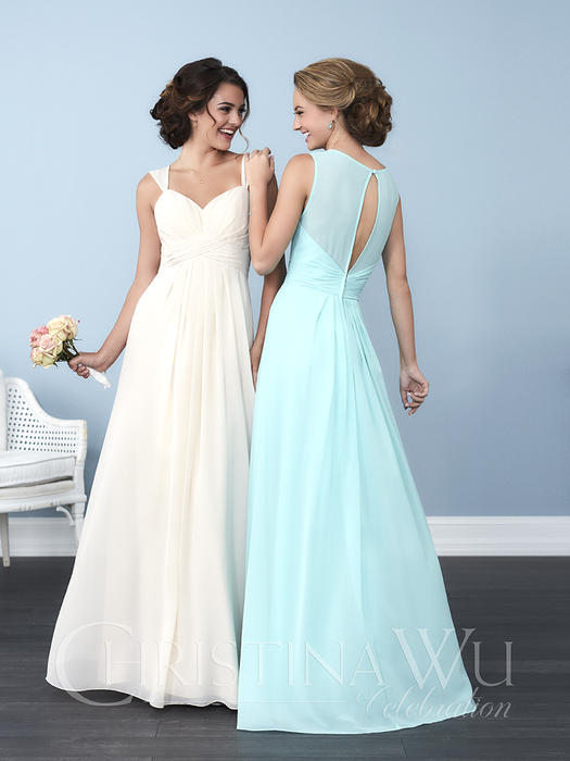 House of Wu - Ruched Chiffon A-Line Bridesmaid Gown