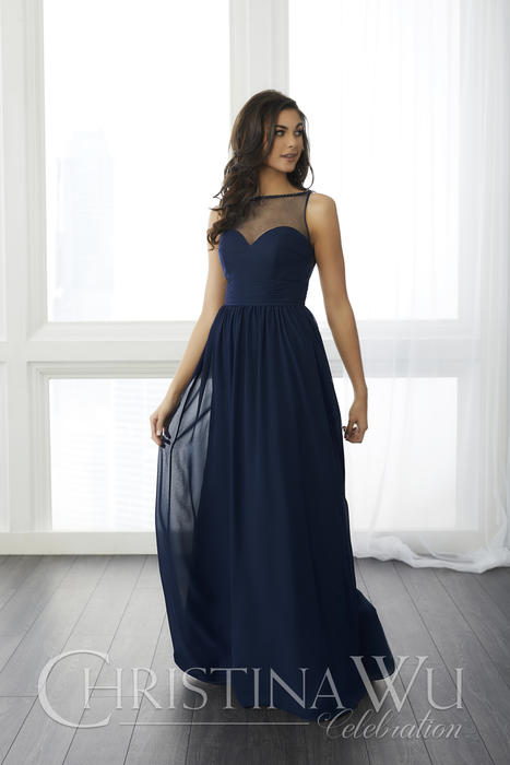 House of Wu - Illusion A-Line Bridesmaid Gown