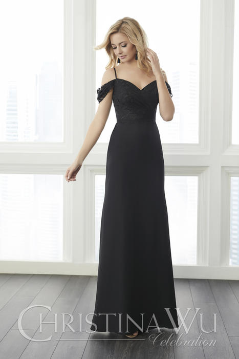 House of Wu - Cold Shoulder Chiffon Bridesmaid Gown