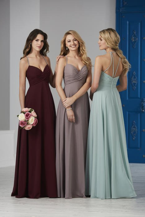 House of Wu - Embellished Spaghetti Strap Bridesmaid Gown
